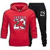 Jordan 23# - Chándal deportivo de invierno para hombre, 2 piezas, para gimnasio, baloncesto, ropa...