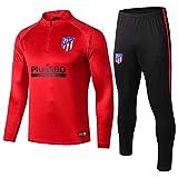 18-19 Atlético de Madrid Manga Larga, Traje de Entrenamiento, Traje de fútbol Informal, Traje,...