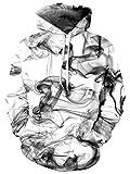 TUONROAD Hoodie Hombre Funny Humo 3D Impreso Blanco Sudaderas con Capucha Ligero Unisex Sweatshirt...