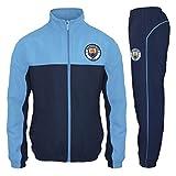 Manchester City FC - Chándal oficial para hombre - Chaqueta y pantalón largos - Azul - Medium
