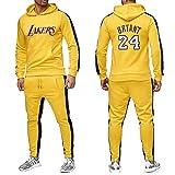 JX-PEP Hombres 2 Piezas Establece Lakers 24 del chándal de los Hombres del Invierno del otoño...